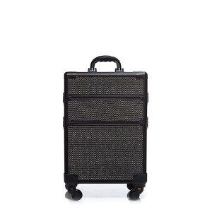 Βαλίτσα με 4 ρόδες TC-3362R Black Glitter