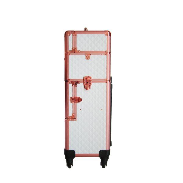Βαλίτσα με 4 ρόδες TC-3360R White Rose Gold